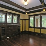 Built-ins, stained glass