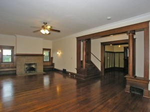 Living room, foyer