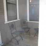 Private rear porch