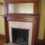 Beautiful fireplace and mantel
